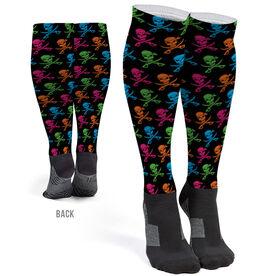 Running Printed Knee-High Socks - Pirates