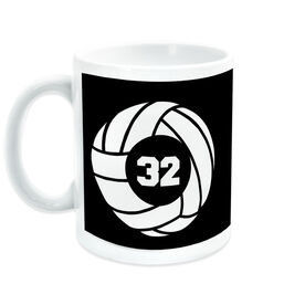 Volleyball Coffee Mug Team Number