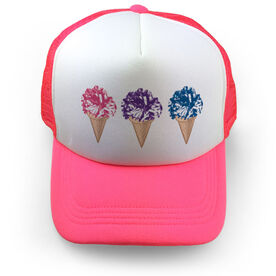 Cheer Trucker Hat Scream For Ice Cream