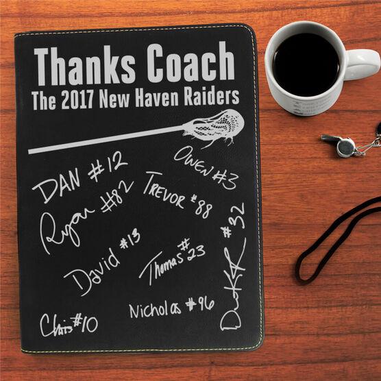 Lacrosse Executive Portfolio - Thanks Coach with Signatures
