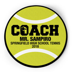 Tennis Circle Plaque - Coach With 3 Lines