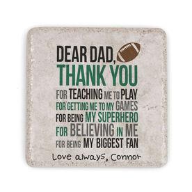 Football Stone Coaster - Dear Dad (Autograph)