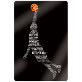 "Basketball 18"" X 12"" Aluminum Room Sign - Personalized Words Guy"