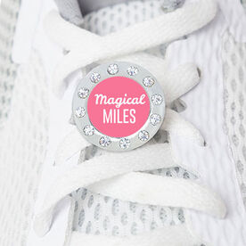 Running Rhinestone Shoe Charm - Magical Miles