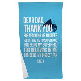 Cheer Beach Towel Dear Dad