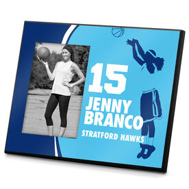 Basketball Photo Frame Personalized Basketball Girl with Big Number Name