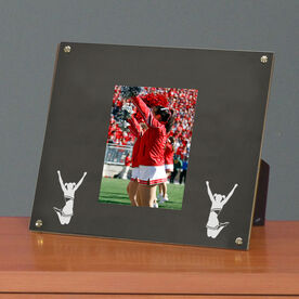 Cheerleading Photo Display Frame Cheerleader Silhouette