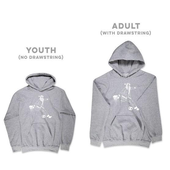Soccer Hooded Sweatshirt - Santa Player