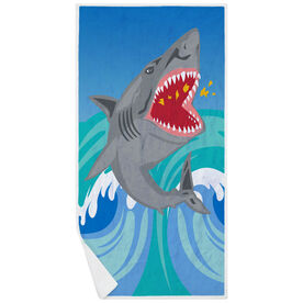 Premium Beach Towel - Shark Attack