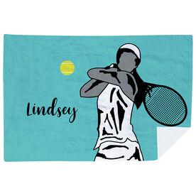 Tennis Premium Blanket - Closeup Female Player