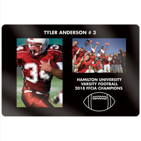 "Football 18"" X 12"" Aluminum Room Sign - Player and Team Photo"