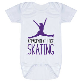 Figure Skating Baby One-Piece - Apparently, I Like Skating