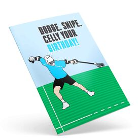 Guys Lacrosse Birthday Greeting Card - Dodge Snipe Celly