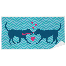 Field Hockey Premium Beach Towel - Dog Love