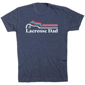 Guys Lacrosse T-Shirt Short Sleeve - Lacrosse Dad Sticks