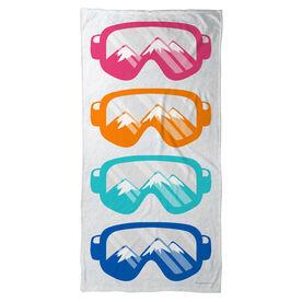 Skiing & Snowboarding Beach Towel - Multicolored Snow Goggles