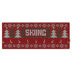 Skiing Hooked on Medals Hanger - Christmas Knit