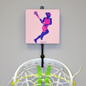 Lax Girl Silhouette Hook