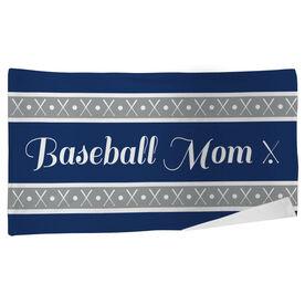 Baseball Beach Towel Mom Stripe