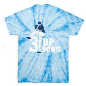 Baseball Short Sleeve T-Shirt - 3 Up 3 Down Tie Dye