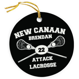Lacrosse Porcelain Ornament Custom Lacrosse Team