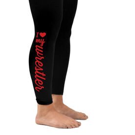 Wrestling Leggings I Heart My Wrestler