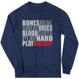 Hockey Tshirt Long Sleeve Bones Saying