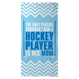 Hockey Beach Towel Tougher Than A Hockey Player