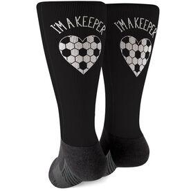 Soccer Printed Mid-Calf Socks - I'm A Keeper