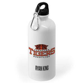 Wrestling 20 oz. Stainless Steel Water Bottle - Custom Logo