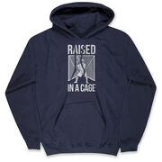 Guys Lacrosse Hooded Sweatshirt - Raised In The Cage
