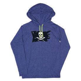 Men's Baseball Lightweight Hoodie - Baseball Pirate Flag