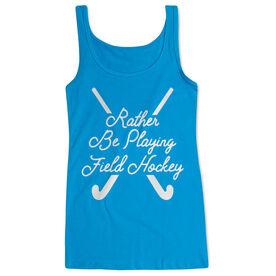 Field Hockey Women's Athletic Tank Top - Rather Be Playing Field Hockey Script
