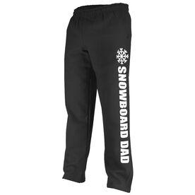 Snowboarding Fleece Sweatpants Snowboard Dad with Snowflake