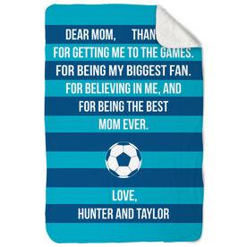 Soccer Sherpa Fleece Blanket - Dear Mom Heart