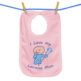 Baby Bib I Love My Lacrosse Mom