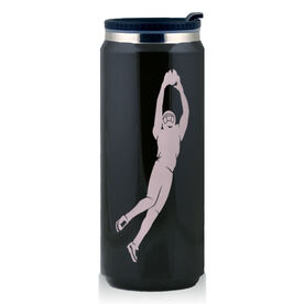 Stainless Steel Travel Mug The Perfect Catch Football Silhouette