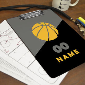 Basketball Custom Clipboard Personalized Basketball Color Block
