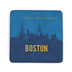 Personalized Stone Coaster - Boston Skyline