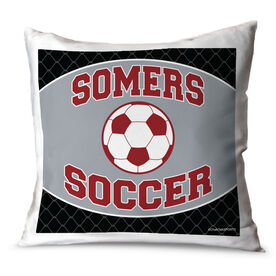 Soccer Throw Pillow Personalized Soccer Team With Soccer Ball