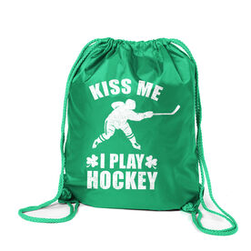 Hockey Sport Pack Cinch Sack Kiss Me I Play Hockey
