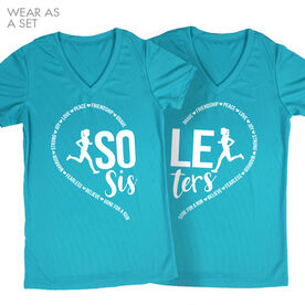 Women's Running Short Sleeve Tech Tee - Sole Sister Heart Set