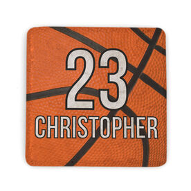 Basketball Stone Coaster - Personalized Big Number with Basketball