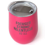 Stainless Steel Wine Tumbler - Focused & Strong