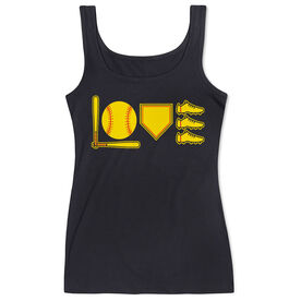 Softball Women's Athletic Tank Top - Love To Play