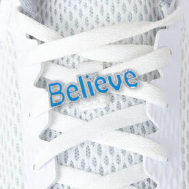 LaceBLING Shoelace Charm - BELIEVE (BLUE)