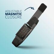 Adjustable Stainless Steel Magnetic Bracelet - Courage Strength Resolve