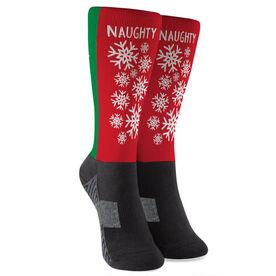 Running Printed Mid-Calf Socks - Naughty or Nice