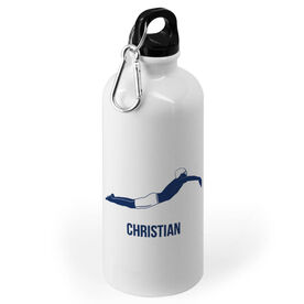 Swimming 20 oz. Stainless Steel Water Bottle - Swimmer Male Silhouette