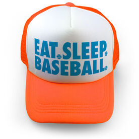 Baseball Trucker Hat - Eat Sleep Baseball